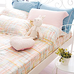 OLIVIA  FANTA 橘粉 加大雙人床包歐式枕套三件組 天絲™萊賽爾