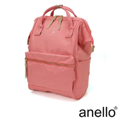 anello RE:MODEL 防潑水經典口金後背包 珊瑚粉
