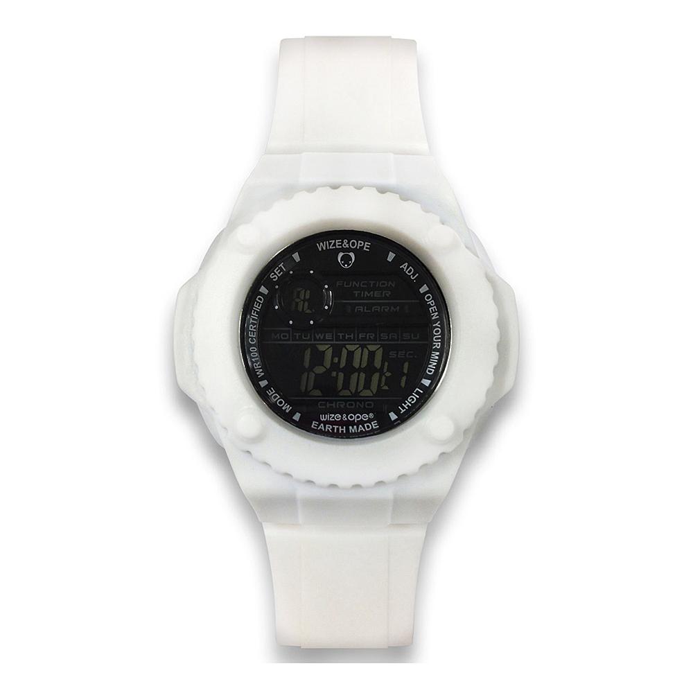 Wize&Ope Gummy系列 歐美潮流指標限定腕錶-亮白/54mm