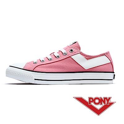 【PONY】Shooter系列百搭復古帆布鞋休閒鞋 女鞋 芭比粉紅色
