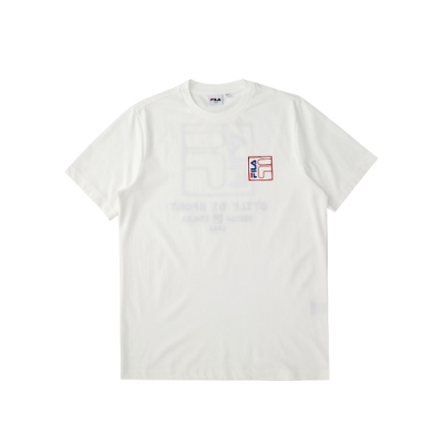 FILA 短袖圓領T恤-牙白 1TEU-1215-IV