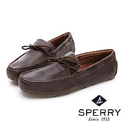 SPERRY 絕倫舒適經典綁帶設計牛皮開車鞋(男)-深咖啡