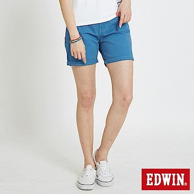 EDWIN MISS休閒基本短色褲-女-藍色