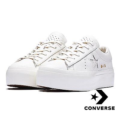 CONVERSE-ONE STAR女休閒鞋-白