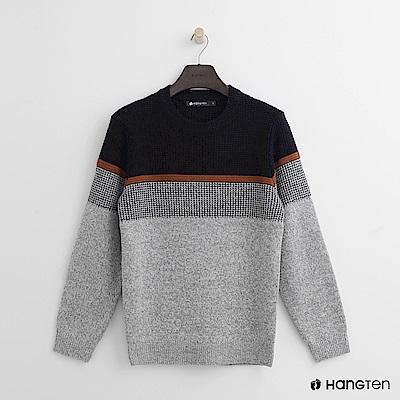 Hang Ten - 男裝 -編織風格針織上衣 - 灰