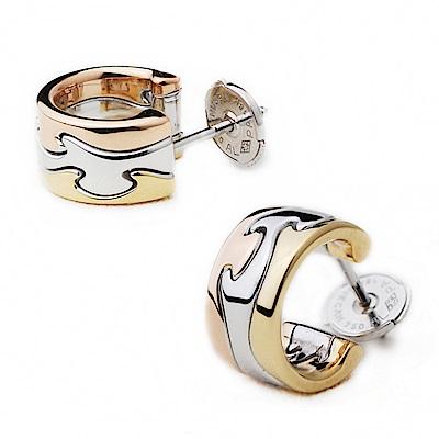 Georg Jensen Fusion3色K金耳環