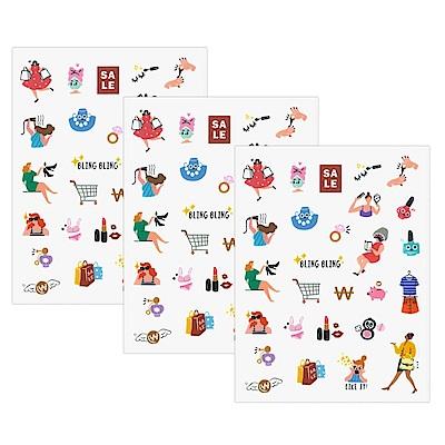 ICONIC 每一天手帳貼紙-08 購物