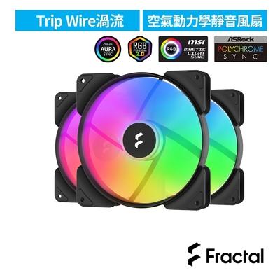 【Fractal Design】Aspect RGB 14cm PWM 散熱風扇-黑-3入包裝