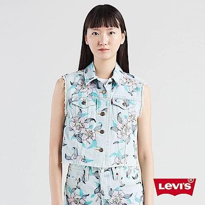 Levis 女款 牛仔背心 夏日清新風 不收邊設計