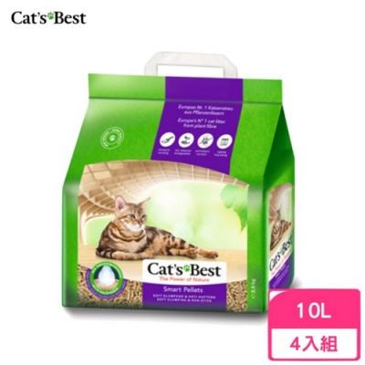 德國凱優Cat′s Best-特級無塵凝結木屑砂(紫標凝結型) 10L/5kg 四包組