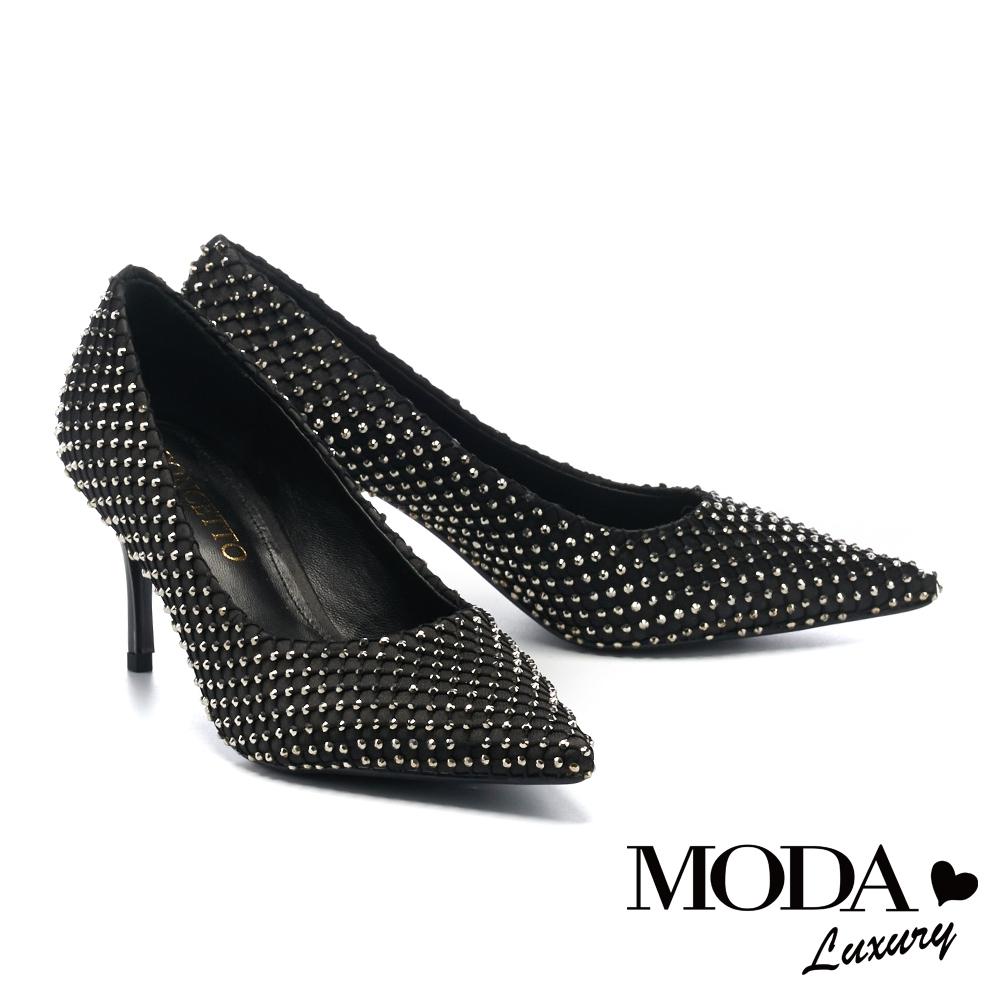 高跟鞋 MODA Luxury 奢華貴氣羊皮尖頭高跟鞋-黑