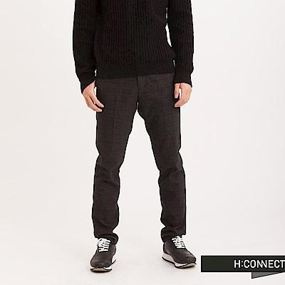 H:CONNECT 韓國品牌 男裝 - 質感格線西裝褲-灰(快)