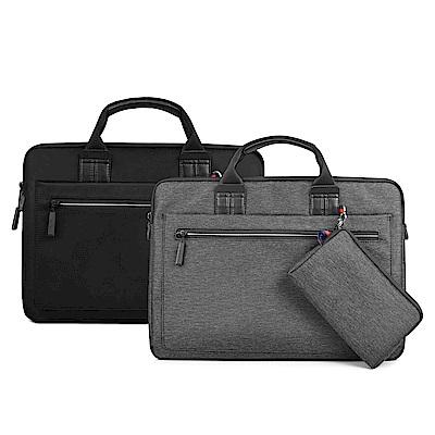 WIWU 13吋-14吋通用 雅典娜電腦包 贈小包 商務帆布手提包 筆電包