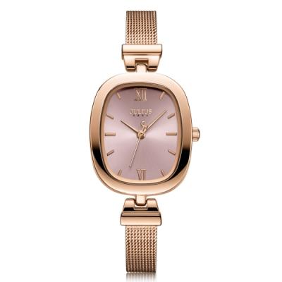 JULIUS聚利時 浪漫物語復古米蘭錶帶腕錶-四色/25X30mm