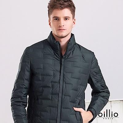 歐洲貴族 oillio 羽絨外套 無縫痕設計 保暖防風 墨綠色