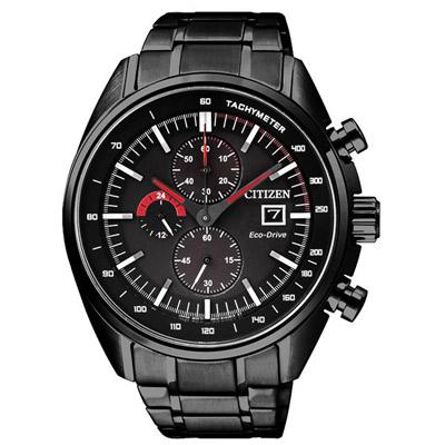 CITIZEN 卓越紳士光動能計時手錶(CA0595-54E)-黑/45mm