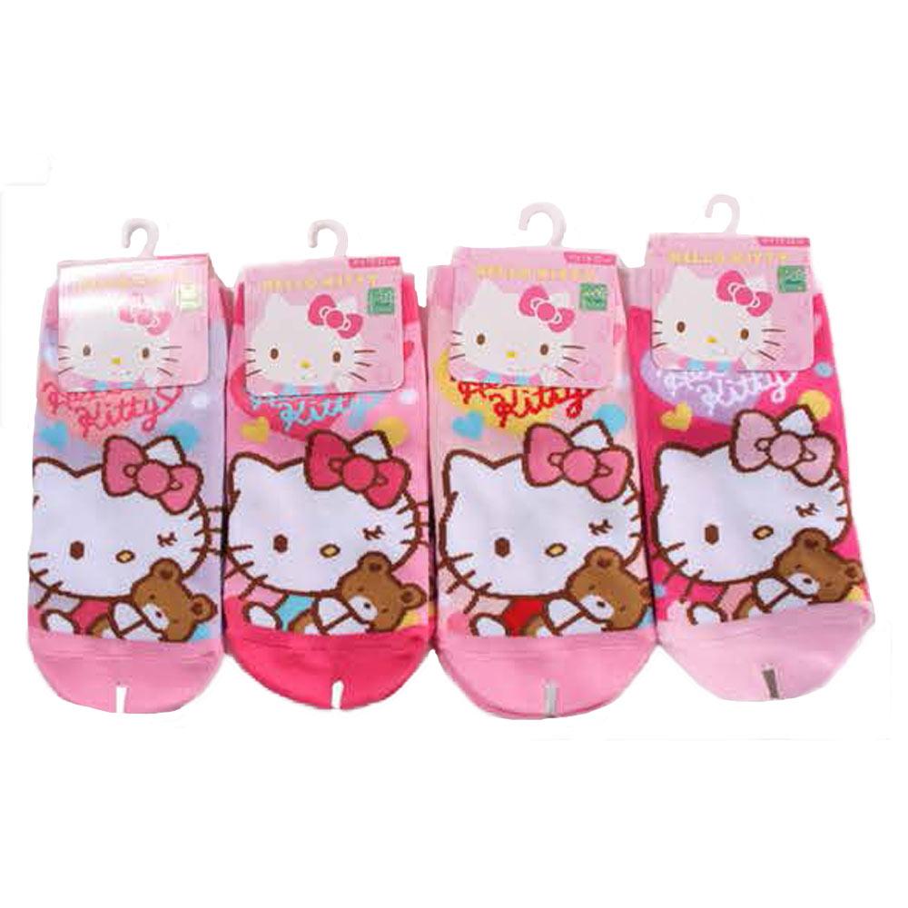 魔法Baby Hello kitty直版襪(三雙一組) k50987