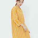 H:CONNECT 韓國品牌 女裝-亮眼條紋長版襯衫-黃