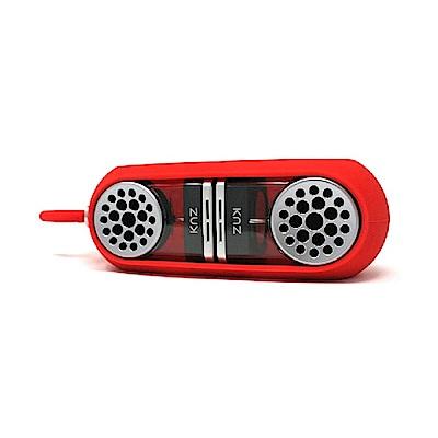 美國Knz-GoDuo無線磁吸音響/透明主體/紅色矽膠套