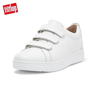 【FitFlop】RALLY QUICK STICK FASTENING LEATHER SNEAKERS 運動風休閒鞋-女(都會白)