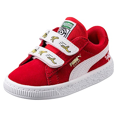 PUMA-MinionsSuedeV嬰孩鞋-賽車紅