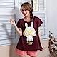 睡衣 彈性棉質短袖兩件式睡衣(C01-100555眼鏡大白兔) Young Curves product thumbnail 1