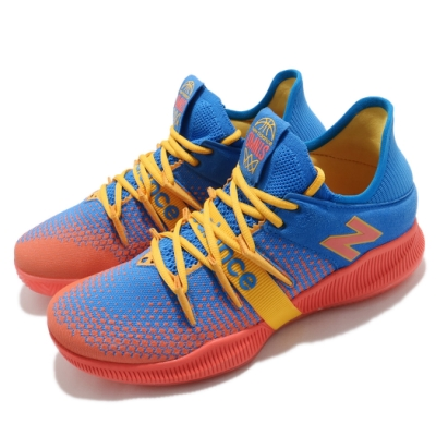 New Balance 籃球鞋 OMN1S Low Wide 寬楦 男鞋 紐巴倫 避震 包覆 支撐 運動 球鞋 藍 橘 BBOMNLOK2E
