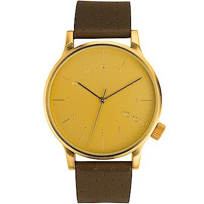 KOMONO Winston 腕錶-布朗棕x鋯金/41mm