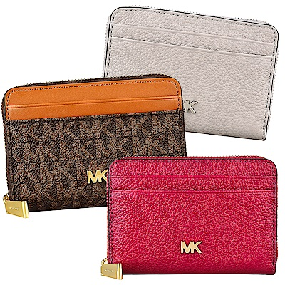 [時時樂限定]MK MOTT 牛皮8卡拉鍊零錢包/短夾(多色)