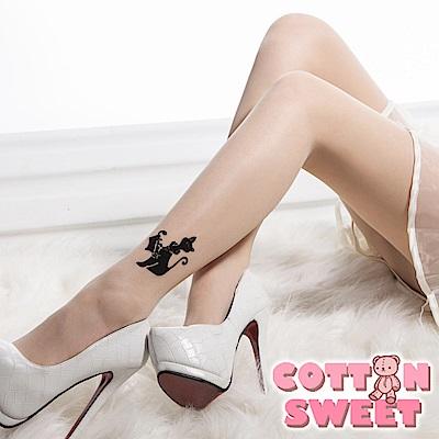日系透膚紋身刺青絲襪 (貓咪) 棉花甜
