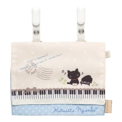 小襪貓音樂幸運草系列可掛式收納包San-X