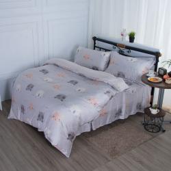 夢工場樂園狂歡40支紗萊賽爾天絲四件式鋪錦床罩組-雙人