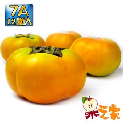 果之家 秋之賞特選甜柿7A12顆裝(單顆6-7兩)