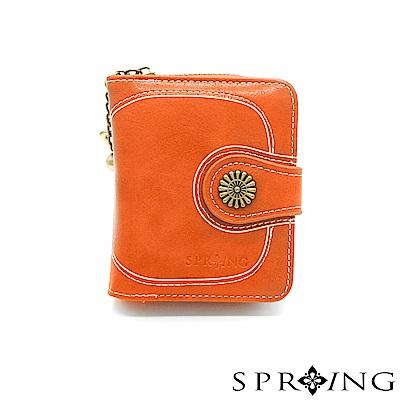 SPRING-日光系列-拉鍊式短夾-晨曦橘