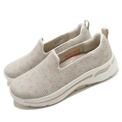 Skechers 休閒鞋 Go Walk Arch Fit 女鞋 郊遊 踏青 避震 緩衝 支撐 穩定 卡其 彩 124477TPMT