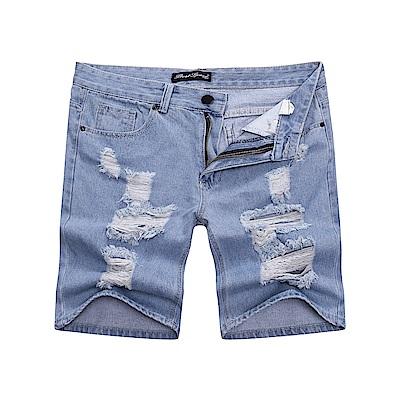 BuyGlasses 韓國刷色磨破牛仔短褲