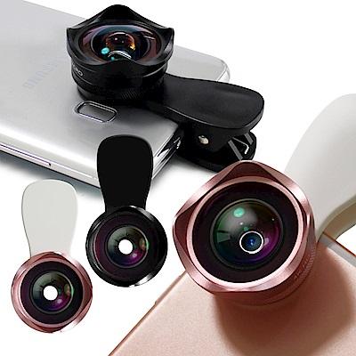 AISURE 4K HD廣角微距 二合一專業鏡頭手機平版用(送防震包)