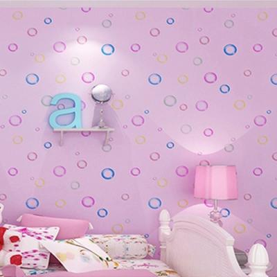 半島良品 防水PVC自黏牆紙45x200cm-粉紅泡泡