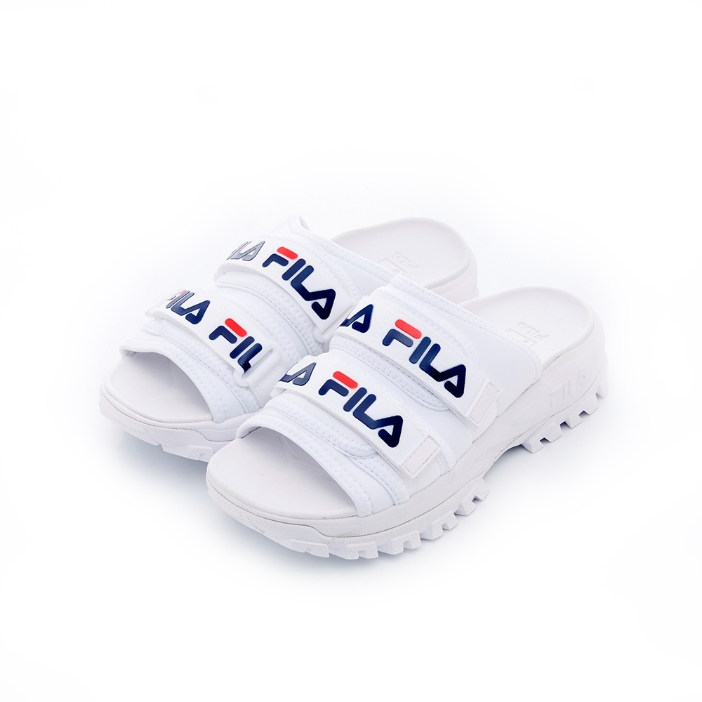 FILA 女拖鞋-白 5-S630T-111