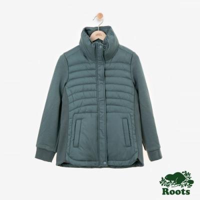 女裝Roots Journey 複合材質外套-綠色