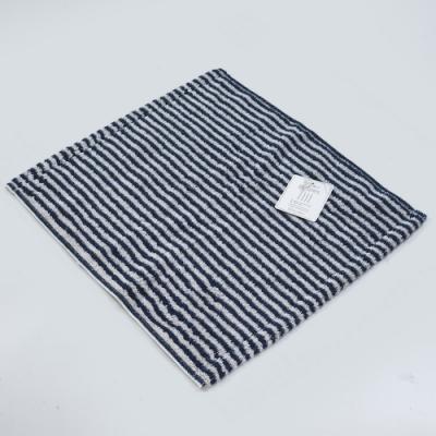 日本愛子 Hartwell 今治簡約細條紋方巾-深藍