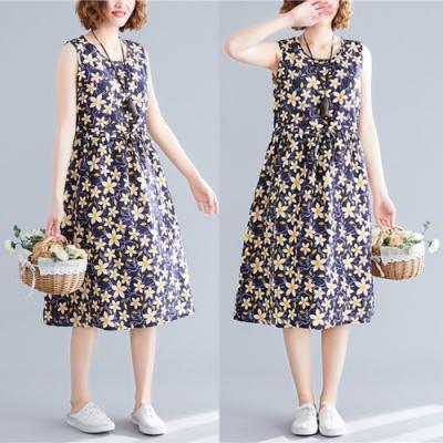 【韓國K.W.】時尚潮流玩美碎花吊帶洋裝