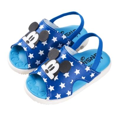 迪士尼童鞋 米奇 大臉立體造型涼鞋-藍(柏睿鞋業)