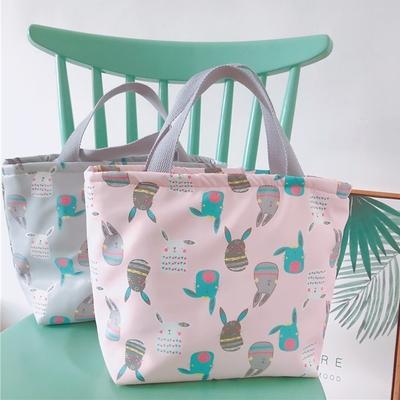 【優貝選】日系卡通兔多用途 保溫 防水小手提包/便當袋/午餐提包(4色)