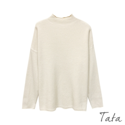 立領坑條保暖針織上衣 共四色 TATA-F