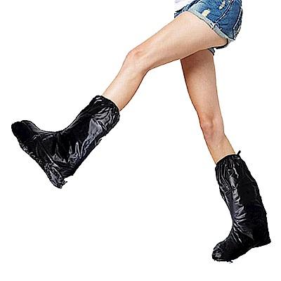 金德恩 台灣製造 超值組2雙男女款後置反光條半筒靴型M~3XL