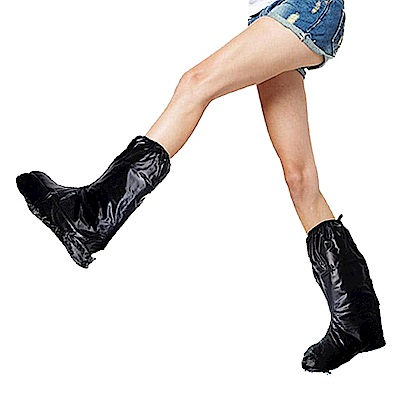 金德恩 台灣製造 超值組4雙男女款後置反光條半筒靴型M~3XL