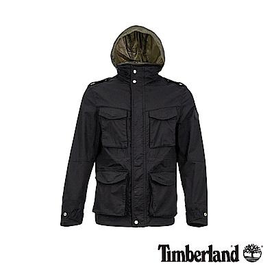 Timberland 男款黑色M65斜紋布夾克|A1OIL