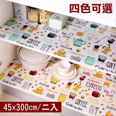 【挪威森林】日本熱銷防潮抽屜櫥櫃墊-格紋款(45x300cm 二入)