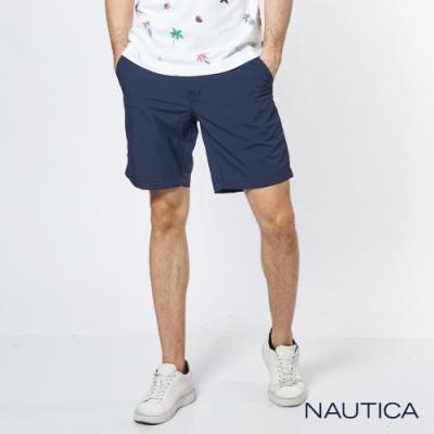 Nautica 經典彈力修身短褲-海軍藍